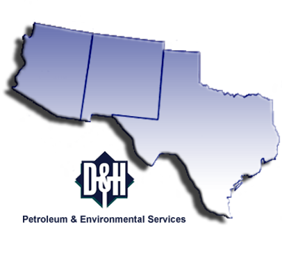Map Of West Texas And New Mexico.D H Enviro Service Area